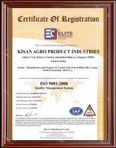 ISO OLEO Certificate