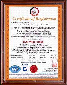 ISO Agro Certificate
